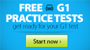 Free G1 Practice Tests. get ready for your g1 test. start now. logo button on e resource page.