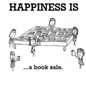 Happiness is a book sale image.