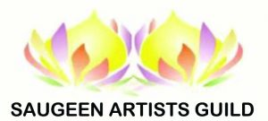Saugee Artists Guild logo & link