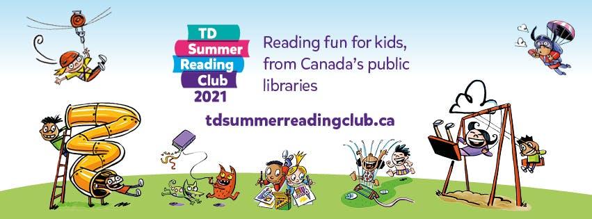 TD Summer Reading Club. Reading fun for kids from Canada's public libraries. visit tdsummerreadingclub.[dot]ca
