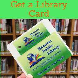 Get a library card. Link opens to membership page.