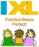 IXL Math Logo on home work helpers page.