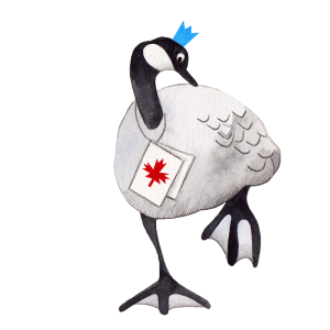 Canada Goose with crown on