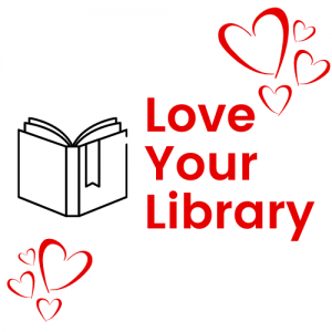 Love your library image with hearts and an open book