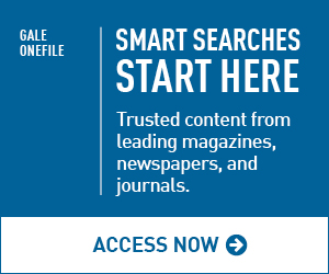 Gale Onefile web button. Smart Searches start here.