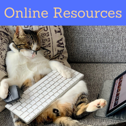 Online Resources. Links to online resources page on website.