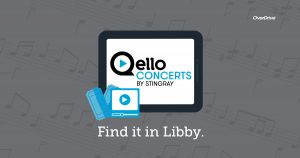 Qello concerts by stingray web button. Link opens to libby app.