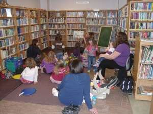 storytime in the Kid's Zone at the Hanover Library