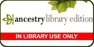 ancestry library edition. in library use only. ancestry logo on e resources page.